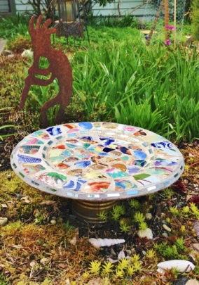 Mosaic Birdbath (448x640)